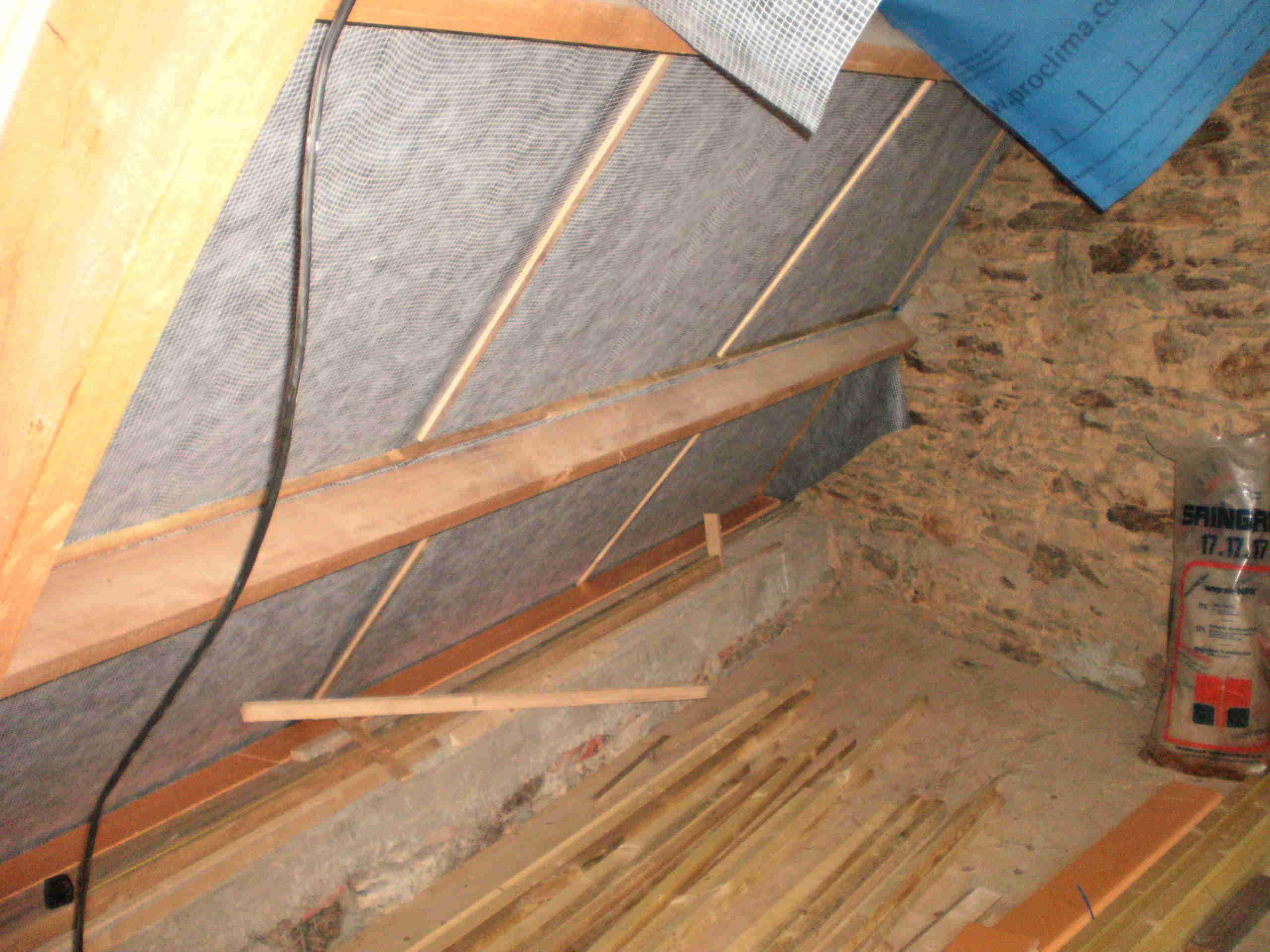 pose du pare pluie tinatur mat riaux cologiques de construction. Black Bedroom Furniture Sets. Home Design Ideas